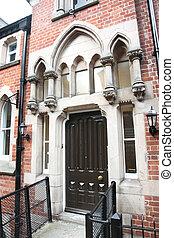 klasszikus, gothic mód, európai, épület, uk