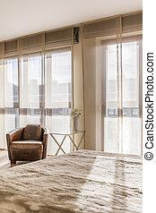 klasszikus, nappali, alatt, hotel