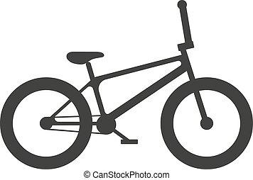 klasszikus, sport, bicikli, árnykép, vektor, illustration.