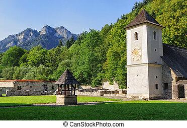 klastor, monasterio, eslovaquia, cerveny