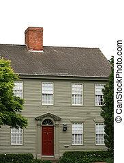 klasyk, nowa anglia, dom