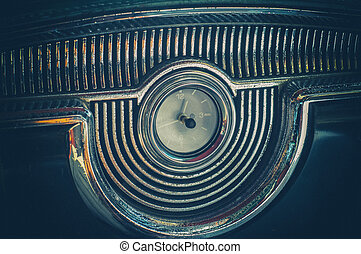 klasyk, stary, wóz, w, havana, kuba