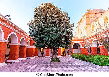 klasztor, od, święty, catherine, w, arequipa,...
