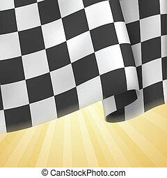 klatkowa bandera, tło., karta, template., wektor