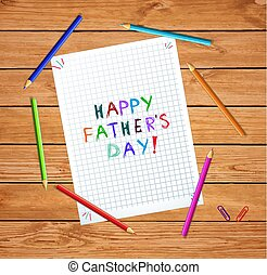 klatkowy, listek, ojcowie, typografia, dzień, szczęśliwy