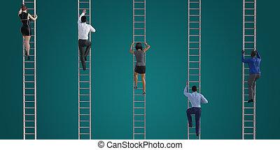 klatre, stige, korporativ