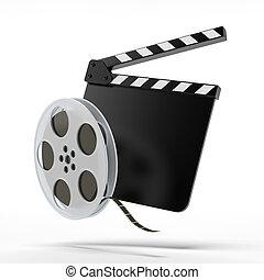 klatschen, Spule, Brett,  Film
