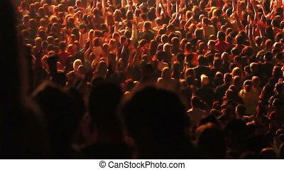 klatschende , crowd