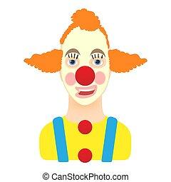 klaun, ikona, karikatura, móda