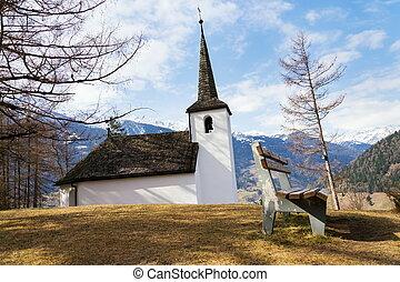 Klaunzer Chapel in mountains country, Matrei in Osttirol, Austria