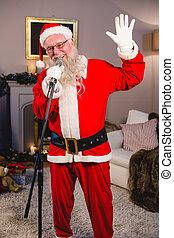 klaus, karácsony, szent, éneklés, songs