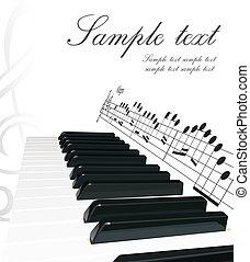 klavír, grafické pozadí