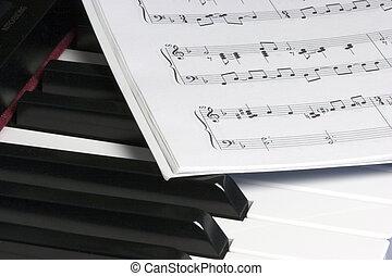 klavír, hudba