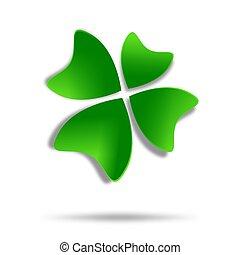 klavertje, veelkleurig, de, vier-blad, logo