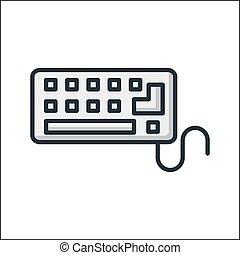 klaviatur, konstruktion, illustration, ikon