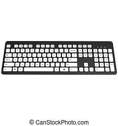 klaviatura, neposkvrněný, grafický, 3, buttons.