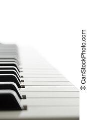 klavier, ansicht, seite, tastatur
