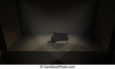 klavier, buehne