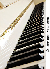 klavier, detail, tastatur