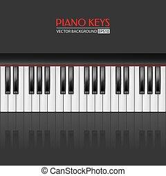 klavier gibt, vektor, hintergrund
