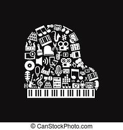 klavier, kunst