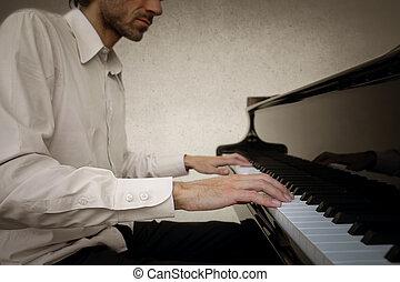 klavier, mann