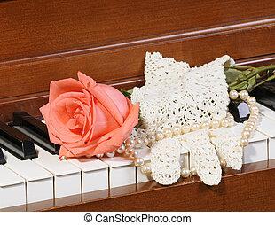 klavier, rosen