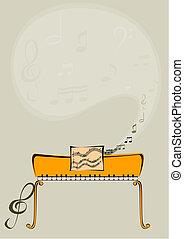 klavier, und, notizen