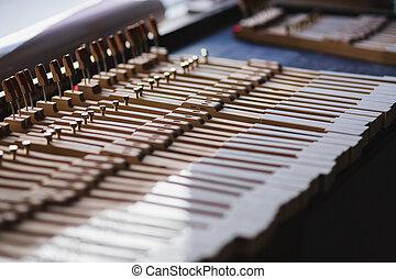 klavier, werkstatt