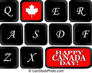 klawiatura, bandera, komputerowe to, kanadyjczyk