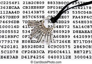 klawiatura, encrypted, listek, dane