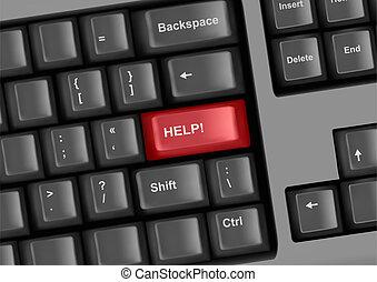 klawiatura, klucz, pomoc