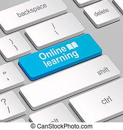 klawiatura, pojęcie, komputer, nauka, online