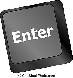 klawiatura, poparcie, wejść, online, klucz, wiadomość, concepts.