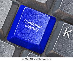 klawiatura, z, klucz, dla, loyality