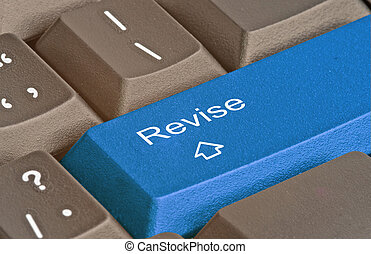 klawiatura, z, klucz, dla, rewizja