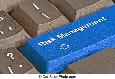 klawiatura, z, klucz, dla, ryzyko, kierownictwo