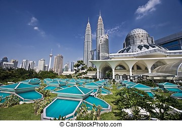 KLCC - Petronas Twin Towers at Kuala Lumpur, Malaysia.