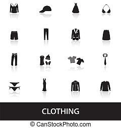 kleding, eps10, iconen