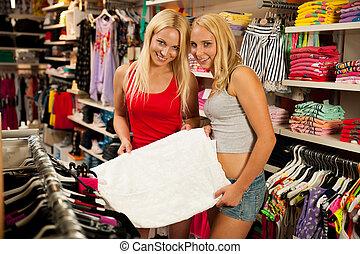 kleding, shoppen , winkel, vrouwen