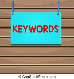 klee, betekenis, lege, daden, hand, kleurrijke, hout, code, keywords., groot, string., vast, foto, conceptueel, houten, schrijvende , tekst, gestreepte , het tonen, woord, zakelijk, frame, concept, plank