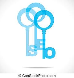 klee, blauwe , seo, s, ontwerp, woord
