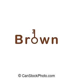 klee, mark, bruine , logo, woord