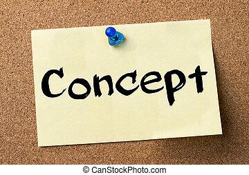 kleefstof, concept, -, etiket, gespeld, plank, bulletin