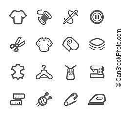 kleermakerswerk, iconen