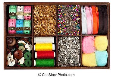 kleermakerswerk, materialen