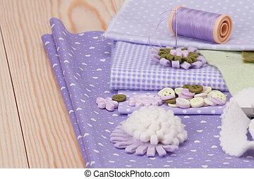 kleermakerswerk, naaiwerk, accessoires, kit., ambacht, hobby