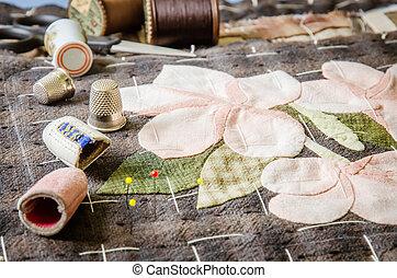kleermakerswerk, naaiwerk, accessories., ambacht, hobby,...