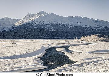 Klehini river in winter