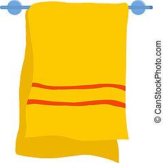 kleiderbügel, handtuch